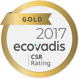 Gold 2017 ecovadis csr rating